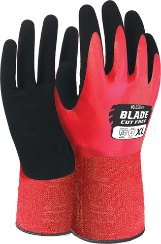 BLADE Nitrile Cut 5 Liquid Proof Full Coat Glove - Reinol NZ Ltd.
