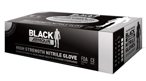 Black Armour Nitrile Disposable Glove - Reinol NZ Ltd.