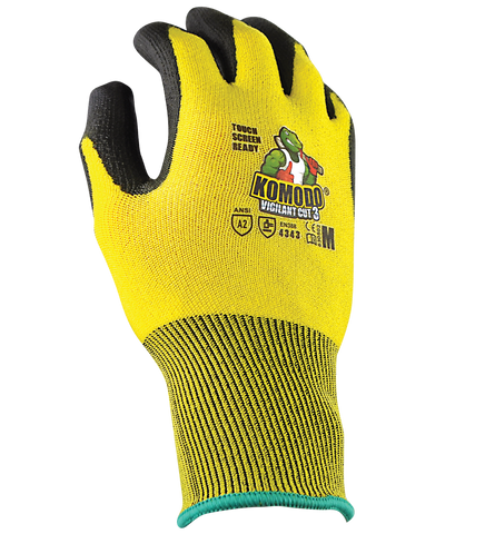 TGC - Komodo Vigilant Touch Screen Ready gloves Cut 3 Gloves - 12 Pairs