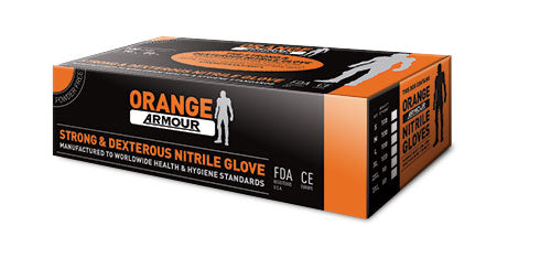 Orange Armour Heavy Duty Disposable Nitrile Glove - Reinol NZ Ltd.