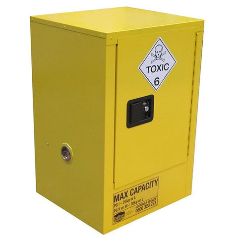 30L Toxic Substance Cabinet, 1 Door, 2 Shelves - Reinol NZ Ltd.
