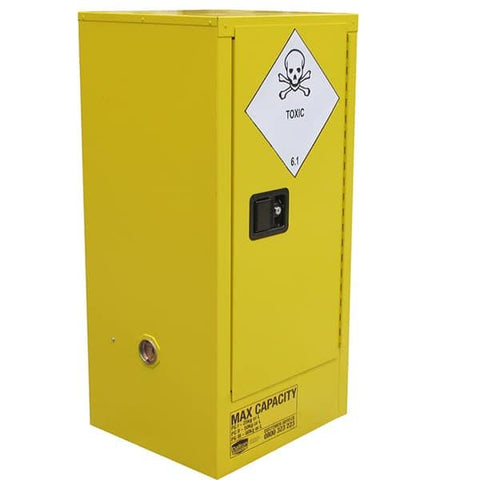 60L Toxic Substance Cabinet, 1 Door, 2 Shelves - Reinol NZ Ltd.