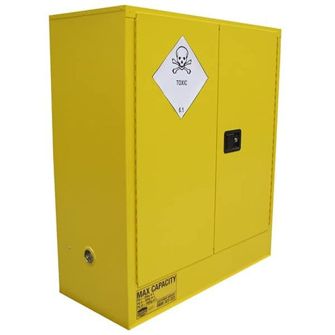 160L Toxic Substance Cabinet, 2 Doors, 2 Shelves - Reinol NZ Ltd.