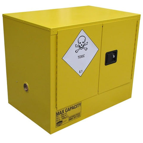 100L Toxic Substance Cabinet, 2 Doors, 1 Shelf - Reinol NZ Ltd.