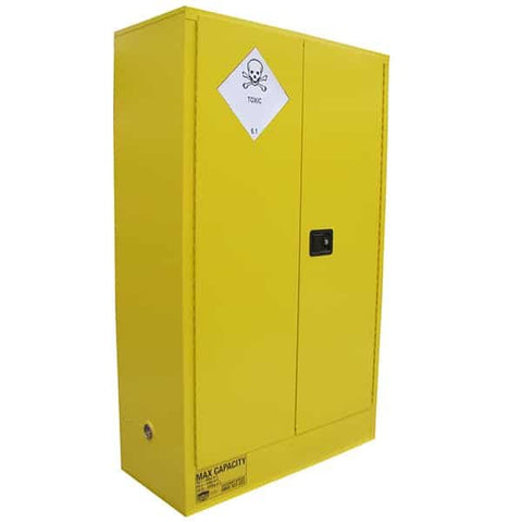 250L Toxic Substance Cabinet, 2 Doors, 3 Shelves - Reinol NZ Ltd.