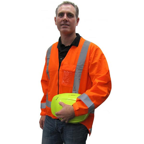 HiViz Long Sleeve TTMC Vest Orange - Reinol NZ Ltd.