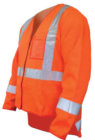 Hi Vis TTMC-W17 Long Sleeve Day / Night Vest - Reinol NZ Ltd.