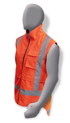 Armour Hi Vis Fluro Orange Polar Fleece Vest  (TTMC-W) - Reinol NZ Ltd.