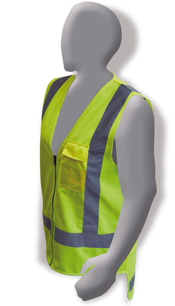 Armour Hi Vis Fluro Yellow Day / Night Vest With STMS Badges - Reinol NZ Ltd.