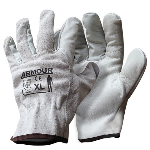 Armour Leather Driver / Rigger Glove - Reinol NZ Ltd.