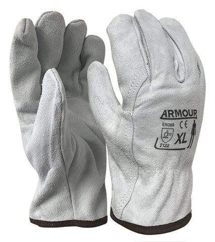 Armour Leather Full Split Rigger Glove - Reinol NZ Ltd.