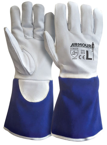 ARMOUR Leather Kevlar Lined Cut 4 Tig Glove - 30cm - Reinol NZ Ltd.