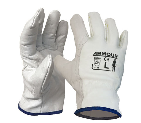 Armour Leather Full Grain Driver Glove - Reinol NZ Ltd.