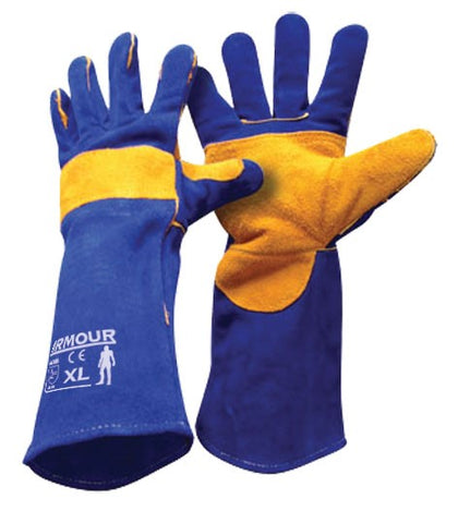 Armour Leather Blue Welding Glove - 40cm - Reinol NZ Ltd.