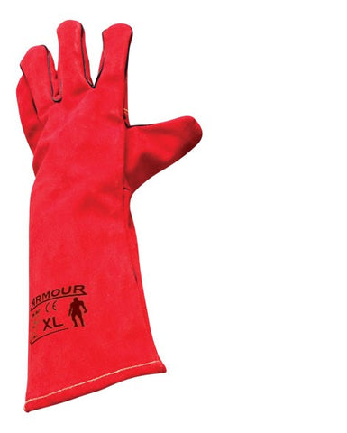 Armour Leather Red Welding Glove (Lefties) - 40cm - Reinol NZ Ltd.
