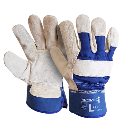 Armour Leather Work Double Palm Glove - Reinol NZ Ltd.