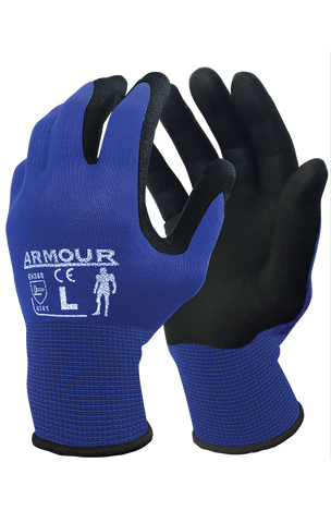 Armour Black Foam Nitrile Open Back - Reinol NZ Ltd.
