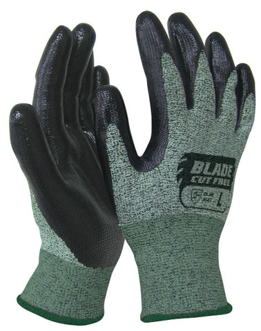 BLADE Flat Nitrile Cut 5 Open Back Glove - Reinol NZ Ltd.