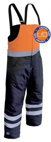Iceking Fluro Orange/Navy Arctic Freezer Bib Pant - Launderable - Reinol NZ Ltd.