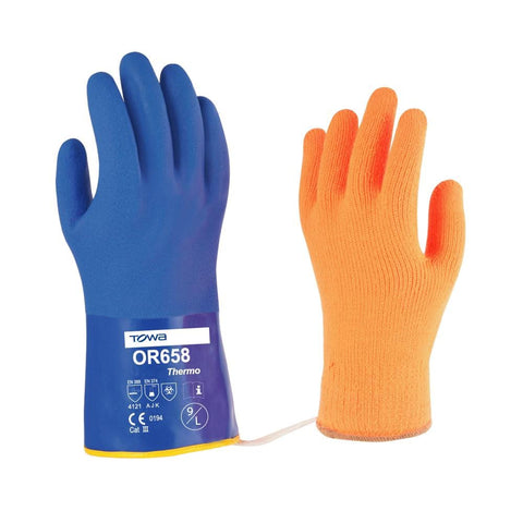 Esko Towa Blue Thermal PVC Glove - Reinol NZ ltd