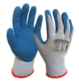 Armour Blue/Grey Latex Open Back Glove - Reinol NZ Ltd.