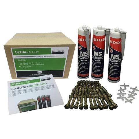 SpillTech UltraBund Install Kit 5m (inc. dynabolts, adhesive, spacers) - Reinol NZ Ltd.