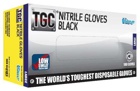 TGC - Black Nitrile Disposable Glove - Box of 100 - Reinol NZ Ltd.