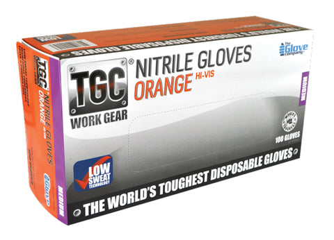 TGC - Orange Nitrile Disposable Glove - Box of 100 - Reinol NZ Ltd.