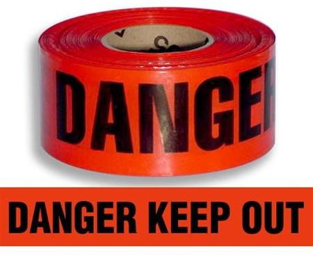 Danger Barrier Tape - 75mmx300m Yellow/Black - Reinol NZ Ltd.