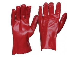 Armour Red PVC Gauntlet Glove - 27cm - Reinol NZ Ltd.