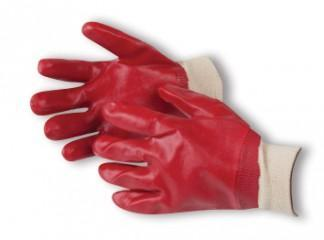 Armour Red PVC Knit Wrist Glove - 27cm - Reinol NZ Ltd.