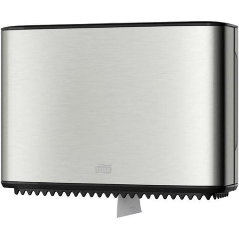 Tork T2 Mini Jumbo Toilet Tissue Dispenser 460006 - Stainless Steel - Reinol NZ Ltd.