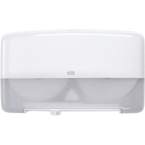 Tork T2 Mini Jumbo Twin Toilet Tissue Dispenser 555500 - White - Reinol NZ Ltd.