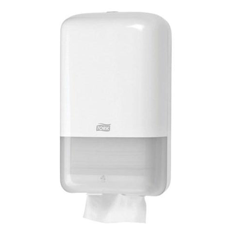 Tork T3 Folded  Toilet Tissue Dispenser-White - Reinol NZ Ltd.