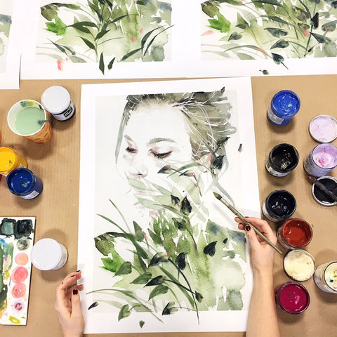 Garden V Hand Finished by Agnes Cecile