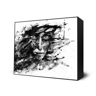 """Agnes Cecile Black & White"" Series Set of 4"