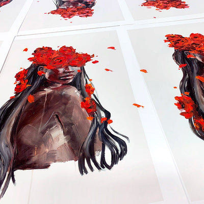 The Scent of Fire - Hand Embellished Print