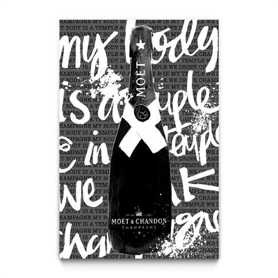Monochrome Moet Chandon