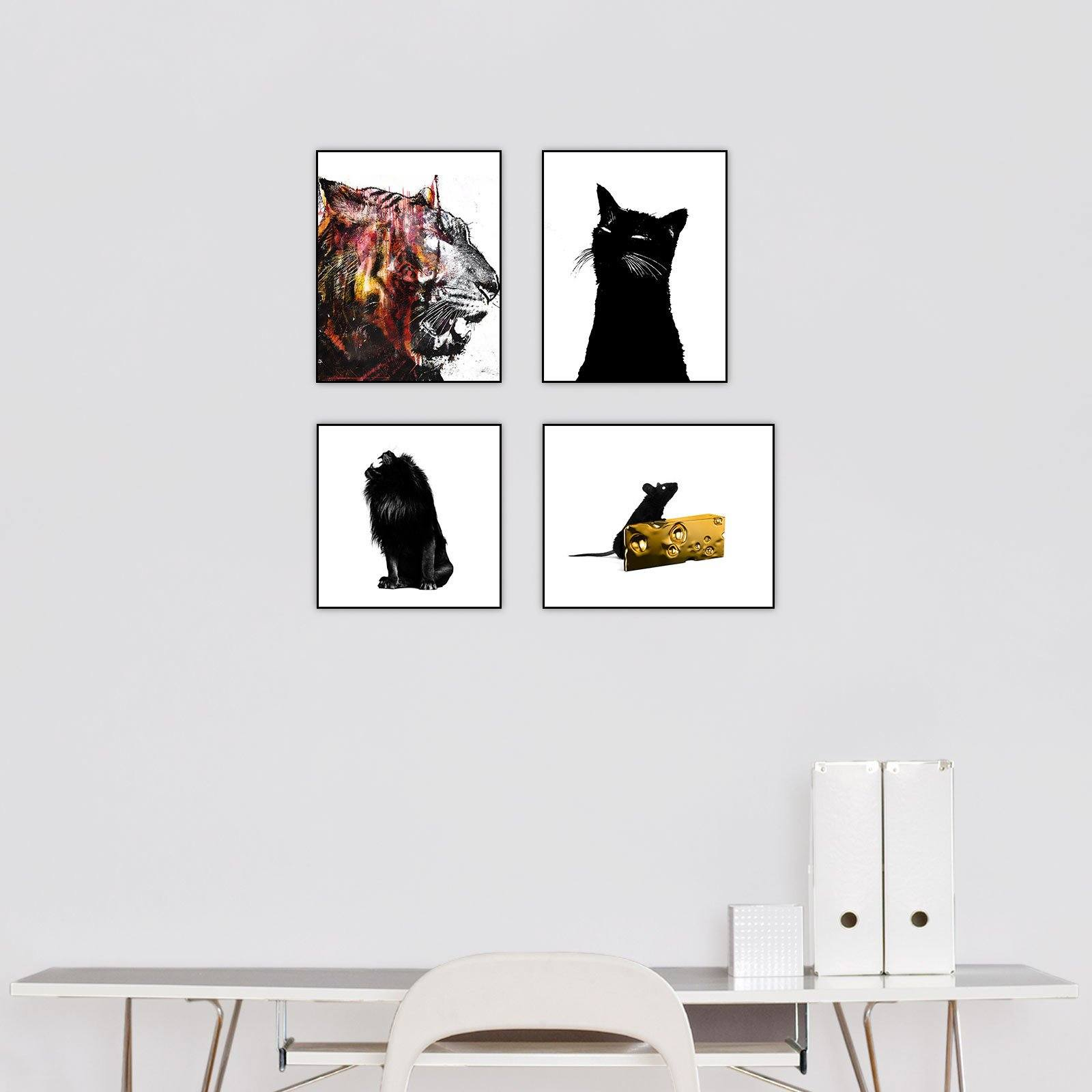 """Animals"" Series Set of 4"