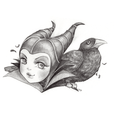 Maleficent and Crow