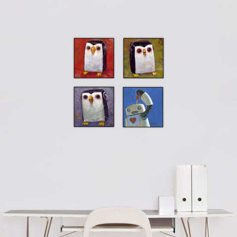 """Hip Hopengiuns"" Series Set of 4"