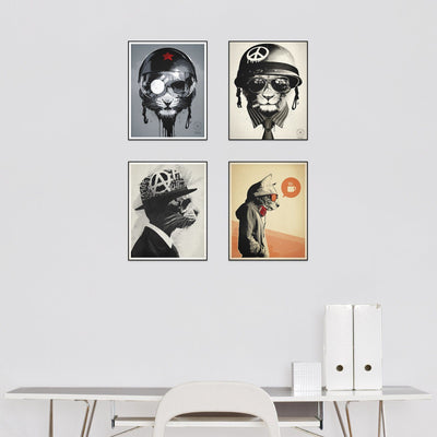 """Character Study"" Series Set of 4"