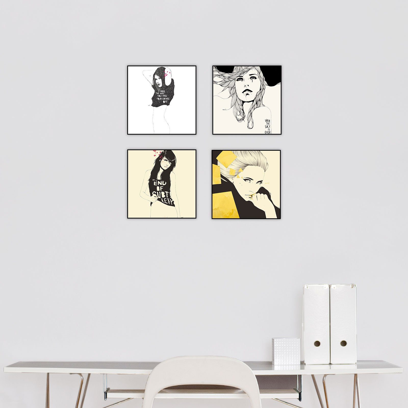 """Manuel Rebollo 3"" Series Set of 4"