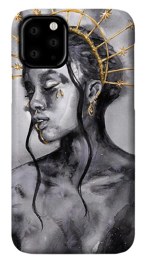 Black Sun Goddess - Phone Case