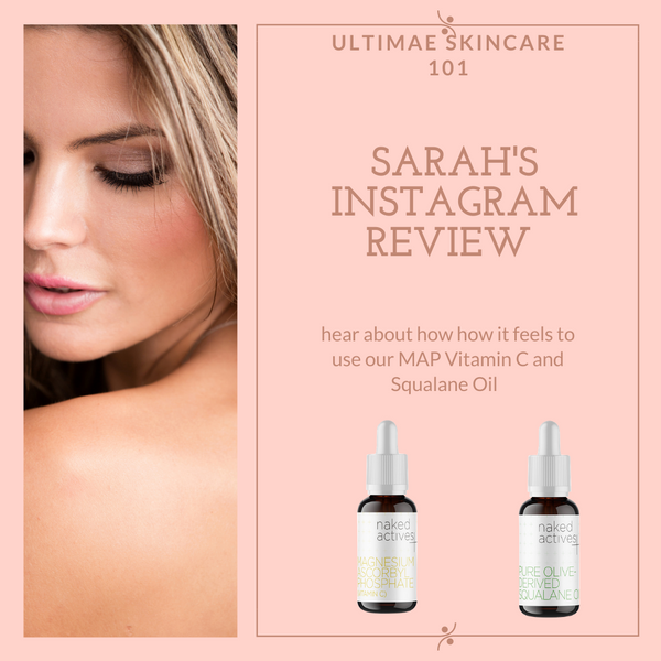 Sarah's Ultimate Instagram Review of MAP Vitamin C and Squalane Oil