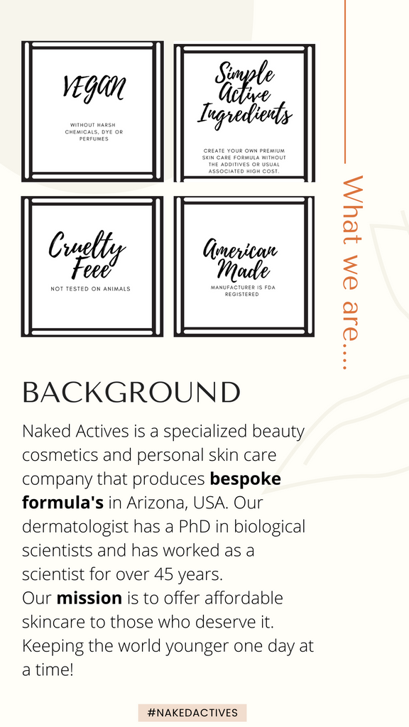 Active ingredients specialist developed by a dermatologists