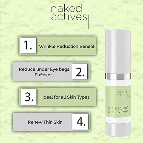 How To Look Young With Naked Actives Anti Aging Eye Cream