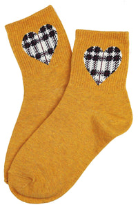 I Heart Cotton Socks Mustard