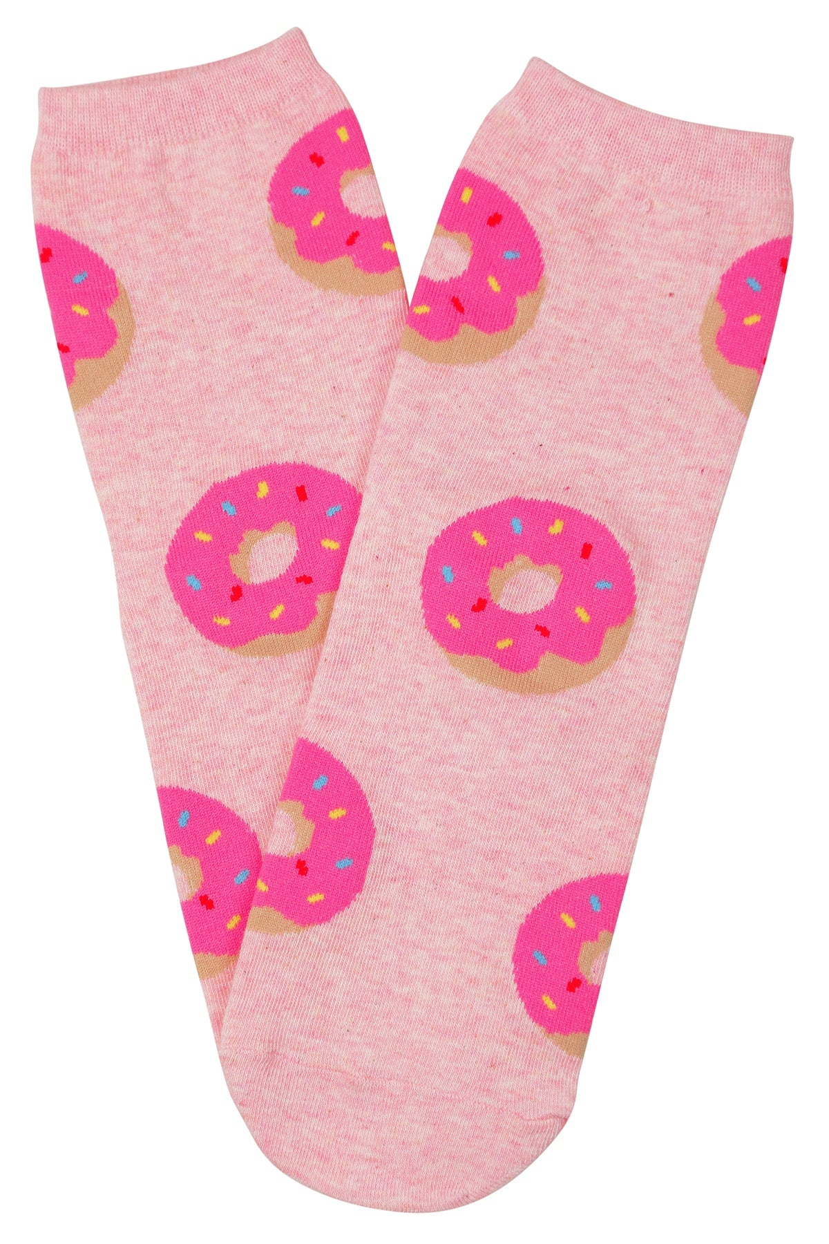 Iced Donut Cotton Socks Pink