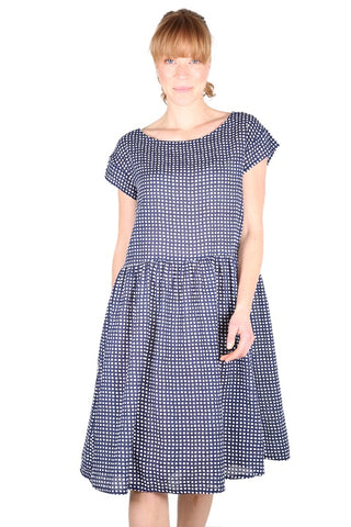 Manhattan Seer Dropwaist Dress Navy